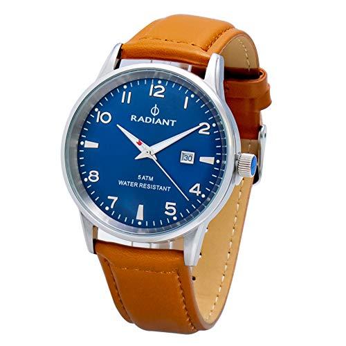 Radiant Reloj Analógico para Hombre de Cuarzo con Correa en Cuero RA434603