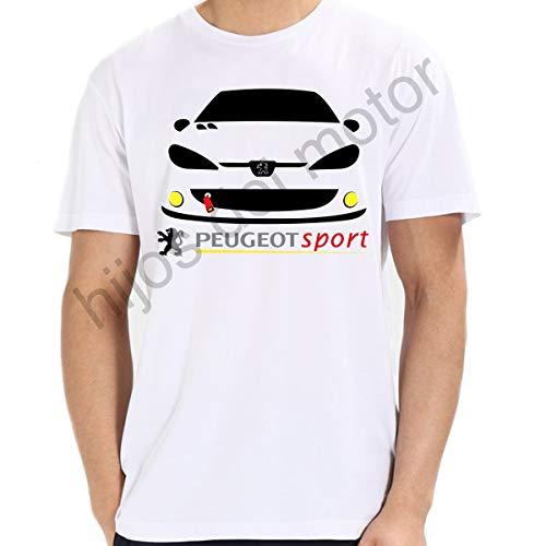 Camiseta Peugeot Sport 206 GTI (Blanco, l)