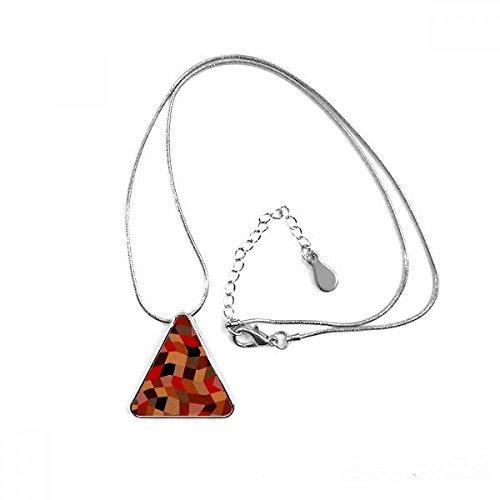 DIYthinker Diamant Polygon Tile Colorful Mustern Dreieck Form Anhänger Halskette Schmuck mit Kette Dekoration Geschenk