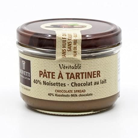 Pâte à Tartiner véritable Chocolat au Lait et Noisettes, sans huile de palme ni gluten