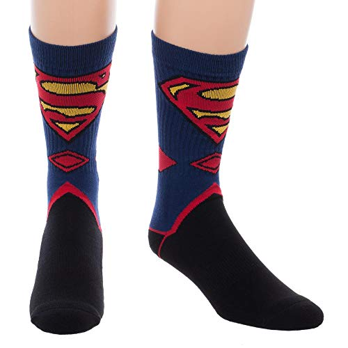 Product Image 1: Bioworld Superman Suit Up Crew Socks, Black