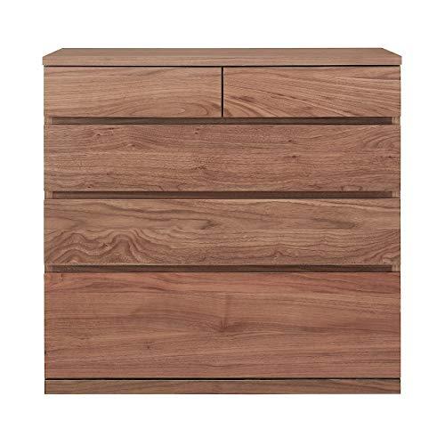無印良品 木製チェスト4段・ウォールナット材 幅88×奥行44×高さ83cm 82219005