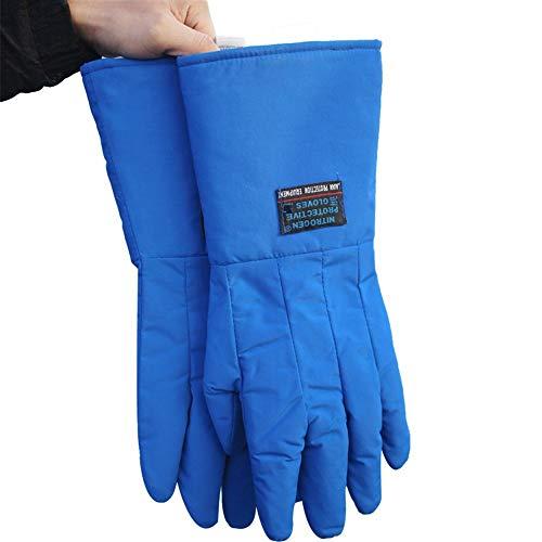 Prevención de cortes Guantes de trabajo for hombre, guantes anticongelantes de nitrógeno, frío y anti-líquido, 15', 17', 23' Anti escaldado (Color : L-45CM, Size : XL)