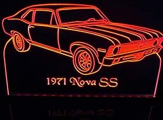 1971 Nova SS Acrylic Lighted Edge Lit 11-13