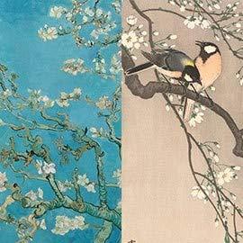 IXXI Wanddekoration (Cards 10 x10 cm) Blossoms - L - 120 x 160 cm Wall Decoration, großes Wandbild, Mosaikbild, Poster, Mosaik, Wanddeko, Collage, Wandbehang, Home Wanddeko, Wandbilder