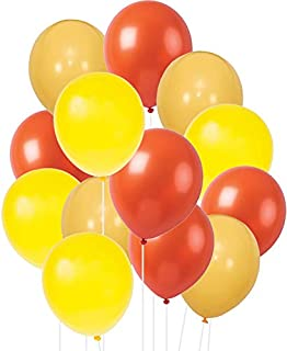 Worldoor 100Pack Orange Balloons, 12Inch Yellow Orange Latex Balloons Premium Helium Quality Yellow Balloons for Party Sup...