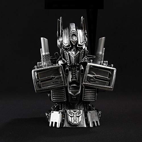 HUOQILIN Transformers 5 Auto Optimus Prime Bust Anime Juguete Modelo GK Anime Juego de Dibujos Animados Personaje Modelo Estatua Decoración 18 cm Alto