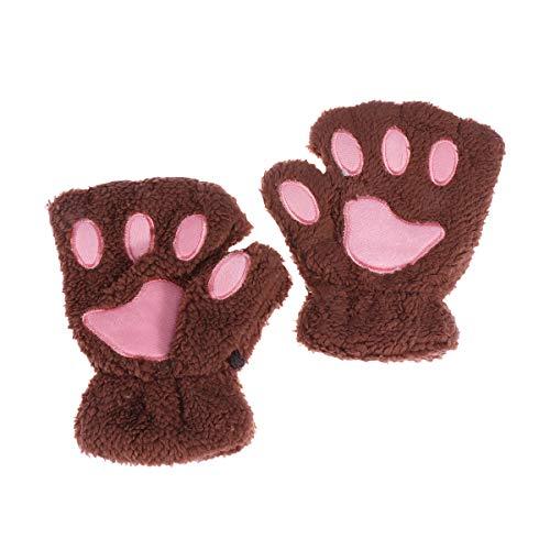 Toyvian Katzenpfote Handschuhe Cosplay Requisiten für Frauen Kinder Mädchen 2pcs (Kaffee)