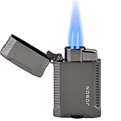 TOPKAY Torch Lighter, Butane Lighter, Windproof Double Jet Flame...