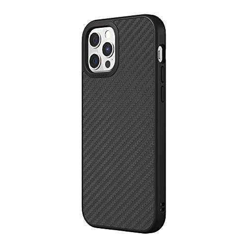 RhinoShield Coque Compatible avec [iPhone 12/12 Pro] | SolidSuit - Housse Fine avec Technologie Absorption des Chocs & Finition Premium - Fibre de Carbone