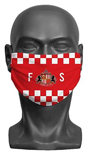Personalised Sunderland AFC Initials Adult Face Mask (Medium)