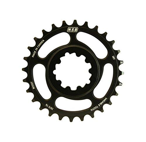 NSB CR2812-B Plateau de vélo Mixte Adulte, Noir