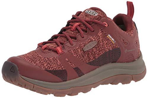 KEEN womens Terradora 2 Waterproof Low Height Hiking Shoe, Cherry Mahogany/Coral, 5.5 US