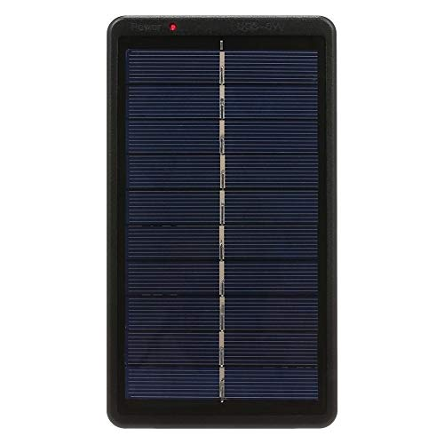 Cargador solar portátil de 2 W/5 V para batería recargable de 3,7 V 18650 con puerto USB para teléfono móvil, tableta y banco de energía (color negro)