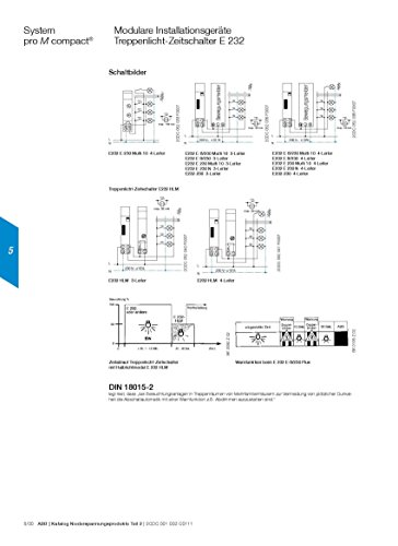 ABB minutero de escalera-interruptor tiempo E232E -8/230 Multi 10 ...