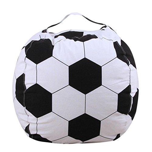 gaddrt Tasche Kinder Stofftier Plüsch Fußball Spielzeug Lagerung Sitzsack Soft Pouch Streifen Stoff