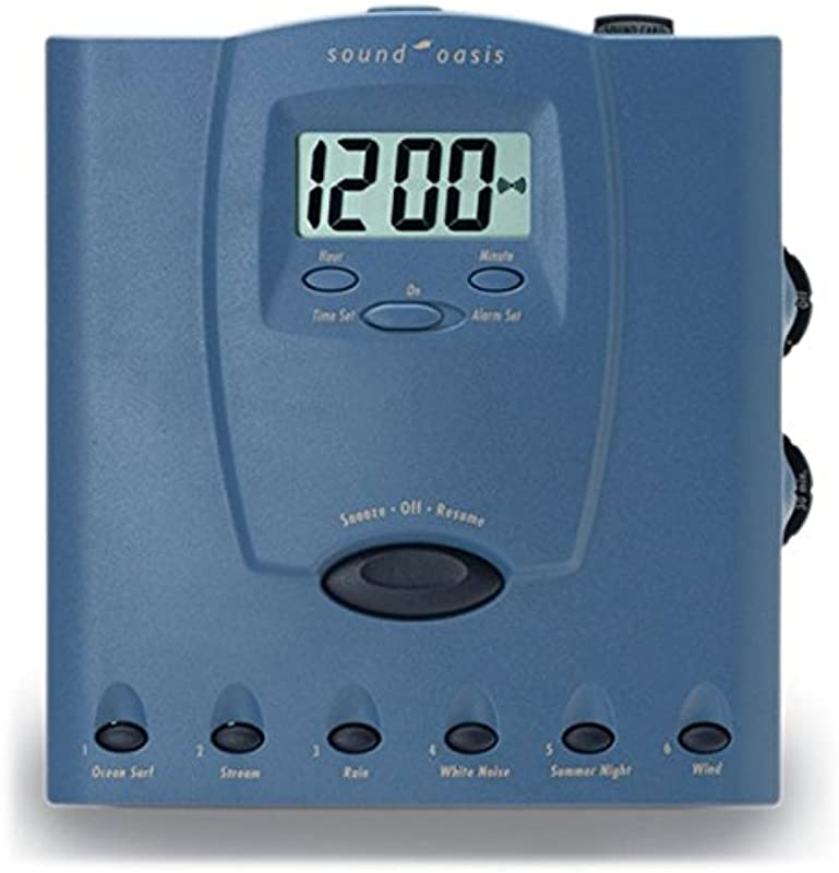 Sound Oasis S 560 03 Sleep Therapy System With Jumbo Alarm Clock Blue