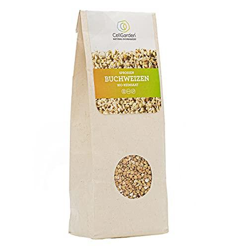 Cell Garden® Buchweizen Samen Bio | 500 g – Buchweizen Sprossen Samen für Sprossen und Microgreens mit hoher Keimfähigkeit - 100{cec937d7fb74160ed896fb394aebdc76874c3baa2cf628899d5a27623067dce0} Laborgeprüfte BIO-Qualität – mit Keimanleitung