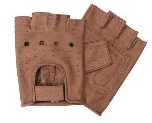 Allstate Leather Unisex Adult AL3010 Premium Fingerless Glove X-Large Brown