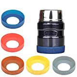 Gteller 4 PCS Eco-Friendly Non-Slip Silicone Coaster for Flask/Mug/Tumbler/Bottle (90mm, Black)