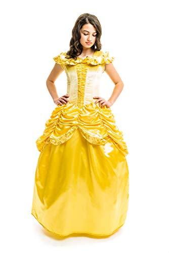 Little Adventures Enchanted Yellow Beauty Dress-Up Costume for Adult Women (Medium (6-8))