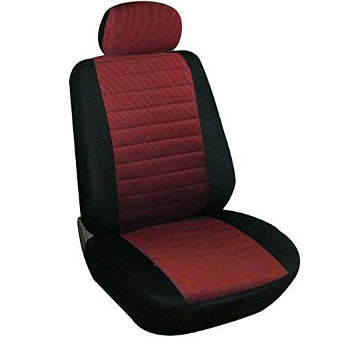 WOLTU 7233 Coprisedile Copertura Anteriore Singolo Universale per Auto Macchina Seat Cover Protezione per Sedile di Poliestere Rosso