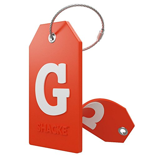 Initial Luggage Tag with Full Privacy Cover and Stainless Steel Loop – (Letter G)