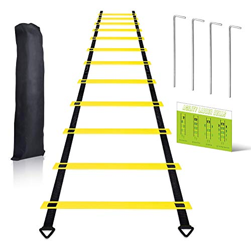 CHUHAI Agility Ladder, 20ft 12 Rungs Speed Ladder Training Ladder for Sports Soccer, Football, Footwork, Workout, Agility Training