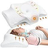Pulatree Ergonomic Cervical Memory Foam Pillow, Odorless Contour Neck Pillows for Pain Relief,...