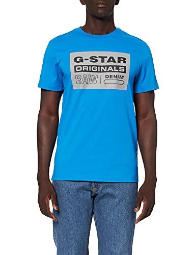 G-STAR RAW Originals Logo T-Shirt, Bleu (Pop Blue 336-1162), XXL Homme