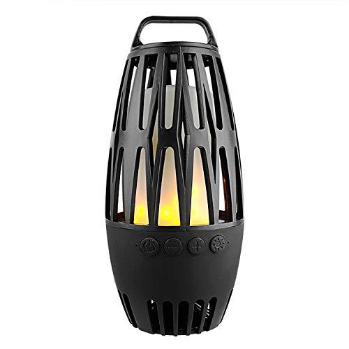 Altec Lansing AL-PT-14 Bookshelf Style Portable Lamp Bluetooth Speaker with Dynamic Warm Flame Lights