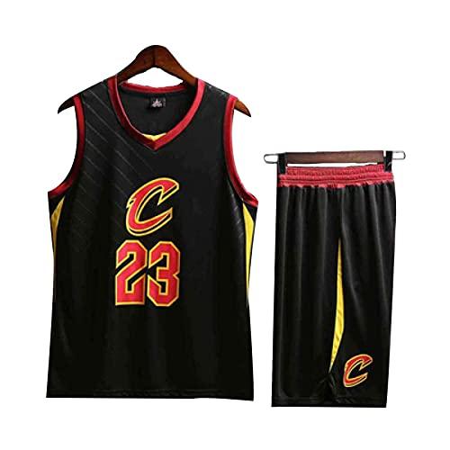 Cavalier James # 23 Traje de Camiseta de Baloncesto Infantil, Chaleco Exterior para Ropa Deportiva Black- XXS