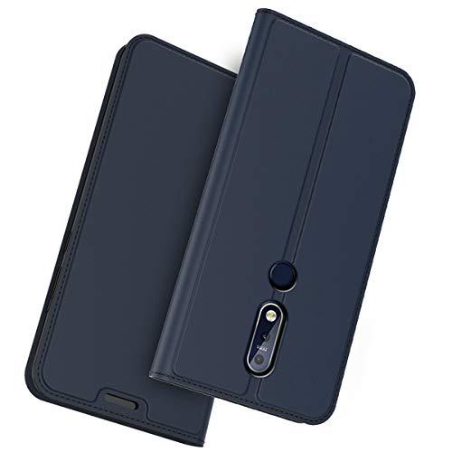 Scheam Cover Nokia 6.1 Plus (Nokia X6) Custodia Slim Libro Design Wallet Caso Luxury Pelle Leather Magnetic Flip Stand Protective Cover with Portafoglio Card Slot for Nokia 6.1 Plus (Nokia