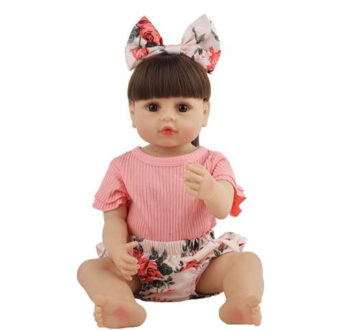 SWEGFDHNT MuñEca De Renacimiento Realista, 22 Pulgadas 55 Cm MuñEca En Miniatura - Silicona De Cuerpo Entero MuñEca Renacida, Children's Gift Toy