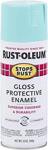 Rust-Oleum 284678 Stops Rust Spray Paint, 12-Ounce, Gloss Light Turquoise