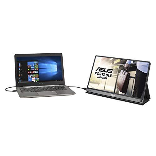 Asus ZenScreen MB16ACM tragbarer USB-Monitor (15,6 Zoll, Full HD, USB Typ-C, IPS, Blaulichtfilter, Smart Case) dunkelgrau