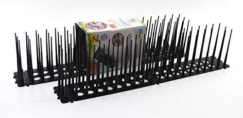 MC Trend Vogel-Abwehr-Spikes aus Kunststoff je 45 cm Tauben-Schreck Vogelschutz Tierfreundlich Spatzenabwehr Garten (4 Stück)
