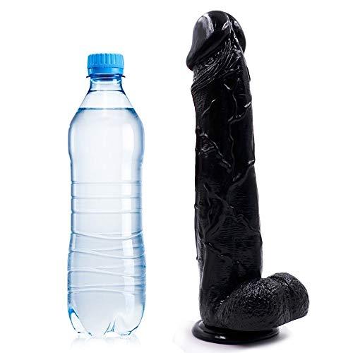 Manigugu 12.99 Inch Big Long Size Personal Massager, Soft Full Bǒdy Massage Wand Toys for Female Manigugu (Color : Black)