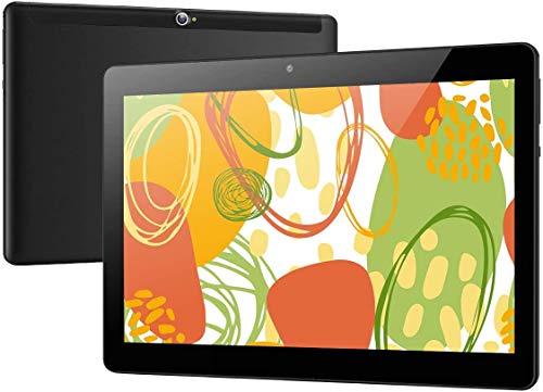 Deca core Tablet 10 Pollici Android 10 OS,4G LTE Dual SIM,4 GB di RAM, 64 GB di spazio di archiviazione,WiFi/WLAN/Bluetooth/GPS TYD-109 (Nero)