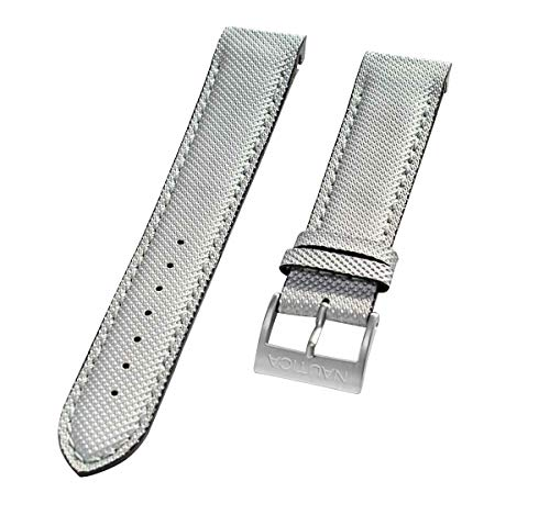 Nautica Men's A20506G | N20506G NCT 400 Chrono 22mm Gray Original Replacement Watch Band