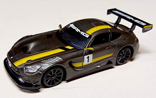 Motormax Mercedes-Benz AMG GT3 GT S Coupe Matt Grau mit Gelb Ab 2014 1/43 Modell Auto