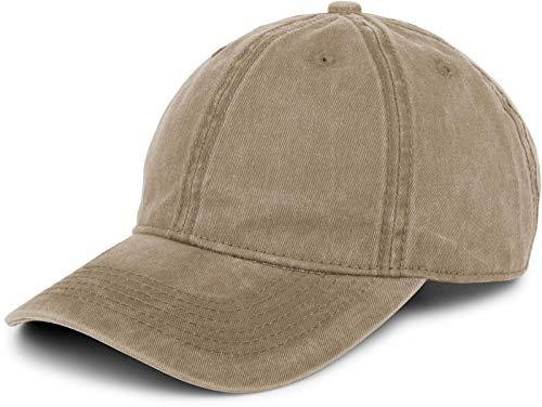 styleBREAKER 6-Panel Vintage Cap im Washed Used Look, Basecap, Baseball Cap, verstellbar, Unisex 04023054, Farbe:Schlamm