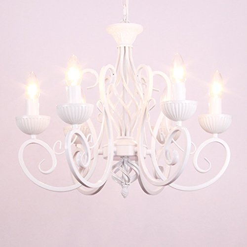 ALUS- European Minimalist Bedroom Restaurant Candle Chandelier Mediterranean Wrought Iron Girl Princess Room Warm Children Chandeliers