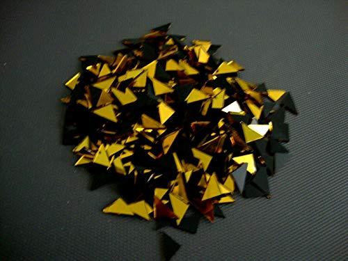 Mosaik-Dreieck Gold Spiegel, Fliesen ca. 10x10x15 mm, 500 Stück