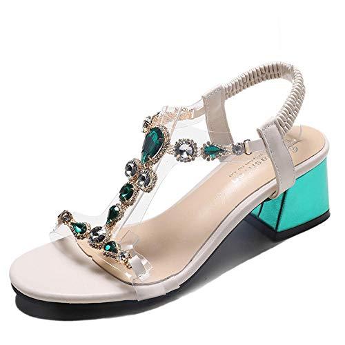 Sandali da Donna con Tacco Alto e Sandali con Tacco Alto e Punta Estiva @ Verde_39