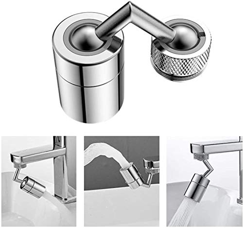 Universal Splash Filter Faucet,720° Rotatable Faucet Sprayer Head, Anti-Splash,Oxygen-Enriched Foam, 4-Layer Net Filter, Leakproof Design with Double O-Ring,Faucet Head for Kitchen and Bathroom (1PC)