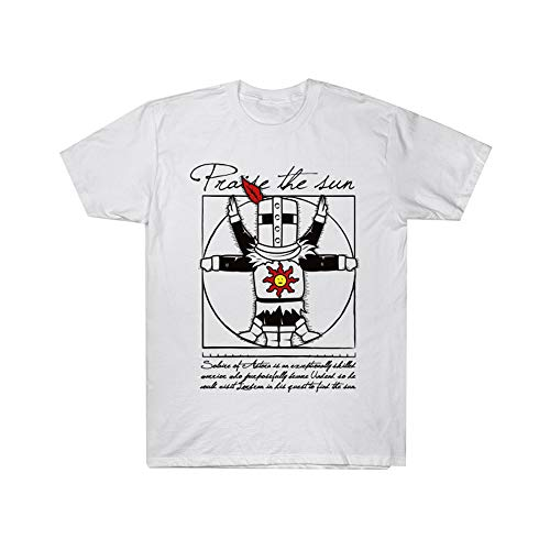 Bopkkgjer Dark Souls Camiseta Camiseta versátil destacada de la Moda Camiseta Transpirable y cómoda Unisex (Color : A04, Size : XXL)