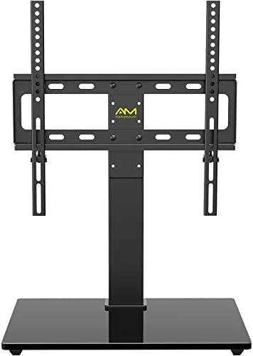 AM alphamount Universal TV Stand Swivel Tabletop TV Base Fits 26 55 Inch LED LCD OLED 4K Flat product image