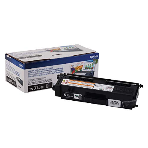 Brother Genuine High Yield Toner Cartridge, TN315BK, Replacement Black Toner, Page Yield Up To 6,000...