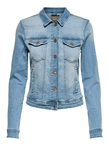 ONLY Damen Jeansjacke Kurze 34Light Blue Denim